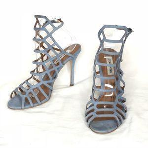 Steve Madden Slithur Blue Cage High Heel Sandals